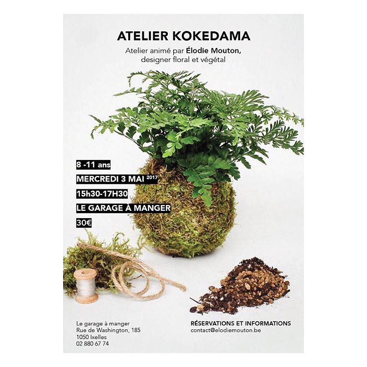 Atelier enfant - initiation aux kokedamas @ Garage-à-manger | Ixelles | Bruxelles | Belgique