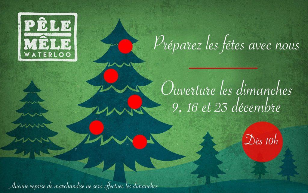 Dimanche 16/12/2018 - Ouverture aussi du Pêle-Mêle de Waterloo dès 10h00... @ Pêle-Mêle Waterloo | Waterloo | Wallonie | Belgique